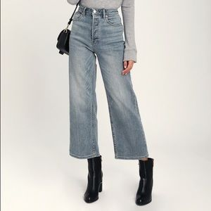 Wales Light Wash Wide Leg High Waisted Jeans